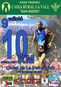 Cartel 9ª edición del 10kms de La Vall