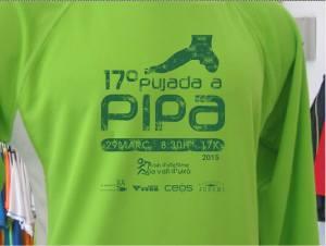 Logo de la 17º Pujada a Pipa y patrocinadores.